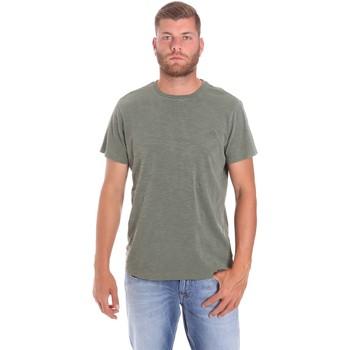 textil Herre T-shirts m. korte ærmer Lumberjack CM60343 021EU Grøn