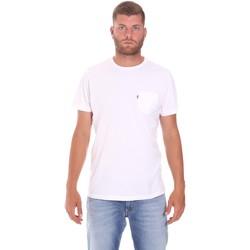 textil Herre T-shirts m. korte ærmer Lumberjack CM60343 022EU hvid