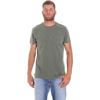 textil Herre T-shirts m. korte ærmer Lumberjack CM60343 022EU Grøn