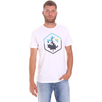 textil Herre T-shirts m. korte ærmer Lumberjack CM60343 023EU hvid