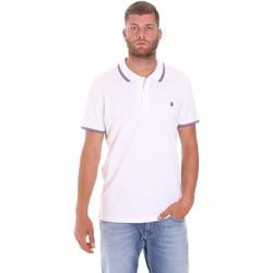 textil Herre Polo-t-shirts m. korte ærmer Lumberjack CM45940 016EU hvid
