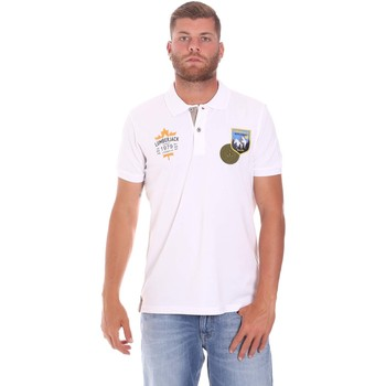 textil Herre Polo-t-shirts m. korte ærmer Lumberjack CM45940 019EU hvid