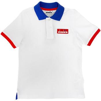 textil Børn Polo-t-shirts m. korte ærmer Diadora 102175907 hvid