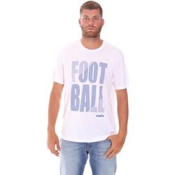 textil Herre T-shirts m. korte ærmer Diadora 102175854 hvid
