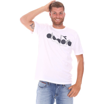 textil Herre T-shirts m. korte ærmer Diadora 502176633 hvid