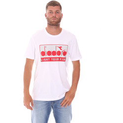 textil Herre T-shirts m. korte ærmer Diadora 502175835 hvid