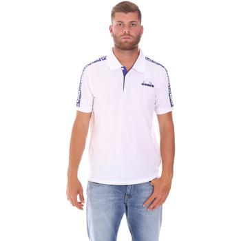 textil Herre Polo-t-shirts m. korte ærmer Diadora 102175672 hvid