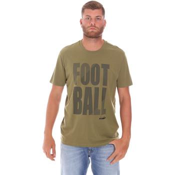 textil Herre T-shirts m. korte ærmer Diadora 102175854 Grøn