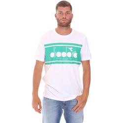 textil Herre T-shirts m. korte ærmer Diadora 502176632 hvid