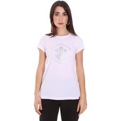 textil Dame T-shirts m. korte ærmer Lumberjack CW60343 015EU hvid