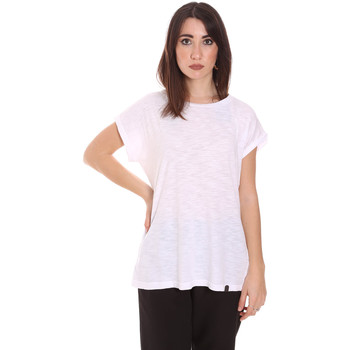 textil Dame T-shirts m. korte ærmer Lumberjack CW60343 011EU hvid