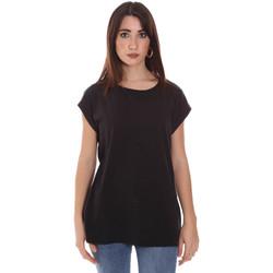 textil Dame T-shirts m. korte ærmer Lumberjack CW60343 011EU Sort