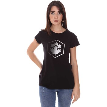 textil Dame T-shirts m. korte ærmer Lumberjack CW60343 015EU Sort