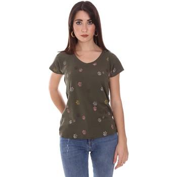 textil Dame T-shirts m. korte ærmer Lumberjack CW60343 013EU Grøn