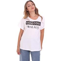 textil Dame T-shirts m. korte ærmer Fracomina FR21ST3025J40010 hvid