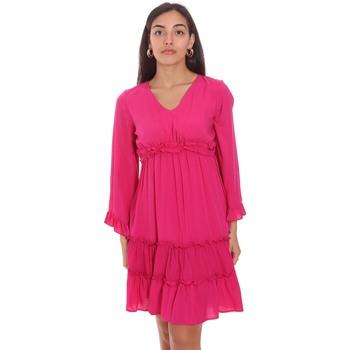 textil Dame Korte kjoler Fracomina FR21SD1047W41801 Lyserød