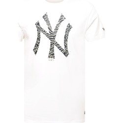 textil Herre T-shirts m. korte ærmer New-Era 12369838 hvid