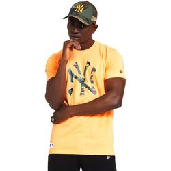 textil Herre T-shirts m. korte ærmer New-Era 12369840 Orange