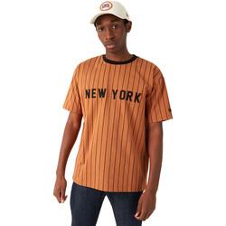 textil Herre T-shirts m. korte ærmer New-Era 12720111 Brun