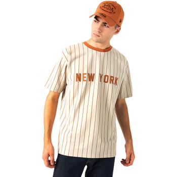 textil Herre T-shirts m. korte ærmer New-Era 12720112 Beige