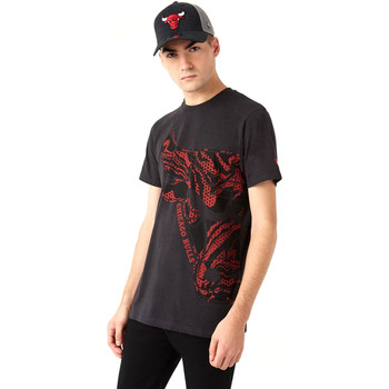 textil Herre T-shirts m. korte ærmer New-Era 12720127 Sort