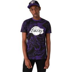 textil Herre T-shirts m. korte ærmer New-Era 12720128 Sort