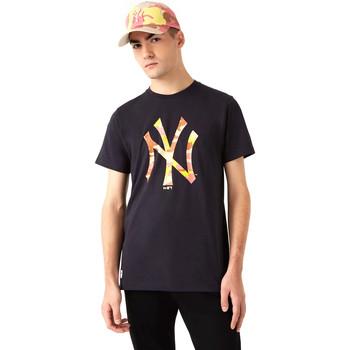 textil Herre T-shirts m. korte ærmer New-Era 12720165 Sort