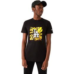 textil Herre T-shirts m. korte ærmer New-Era 12720171 Sort