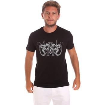 textil Herre T-shirts m. korte ærmer Roberto Cavalli HST66B Sort