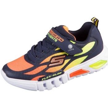 Sko Børn Lave sneakers Skechers Flex Glow Orange, Gul, Grafit