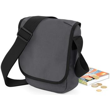 Tasker Dreng Skuldertasker Bagbase BG18 Graphite Grey/Black