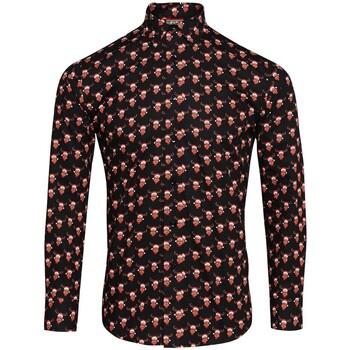 textil Herre Skjorter m. lange ærmer Christmas Shop CS001 Reindeer Black