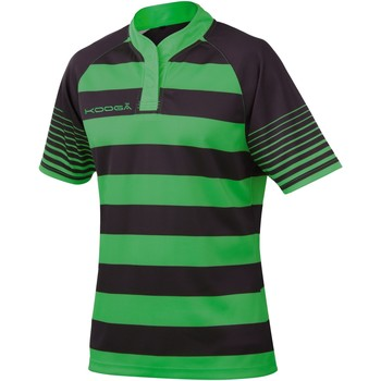 textil Dreng T-shirts m. korte ærmer Kooga K106B Black / Emerald Green