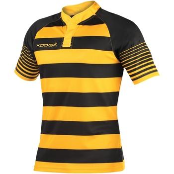 textil Dreng T-shirts m. korte ærmer Kooga K106B Black/Gold