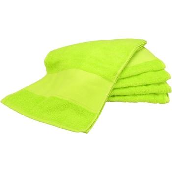 Indretning Håndklæde og badehandske A&r Towels Taille unique Lime Green