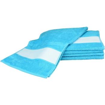 Indretning Håndklæde og badehandske A&r Towels 30 cm x 140 cm Aqua Blue