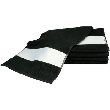 Indretning Håndklæde og badehandske A&r Towels 30 cm x 140 cm Black