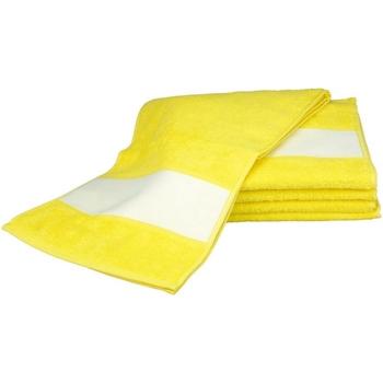 Indretning Håndklæde og badehandske A&r Towels 30 cm x 140 cm Bright Yellow