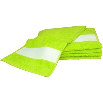 Indretning Håndklæde og badehandske A&r Towels 30 cm x 140 cm Lime Green