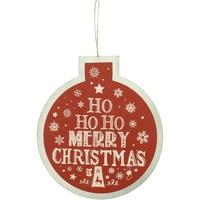 Indretning Julepynt Christmas Shop RW5077 Red Ho Ho Ho