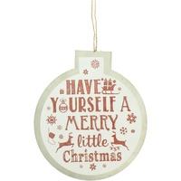 Indretning Julepynt Christmas Shop RW5077 White Merry