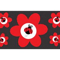 Indretning Klistermærker Creative Converting SG16691 Red/Black