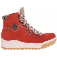 Sko Dame Høje sneakers Rieker Y474138 Rød, Beige