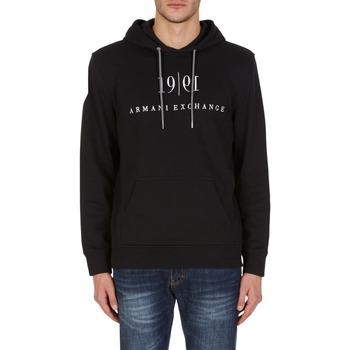 textil Sweatshirts EAX Sweat à capuche  6KZMFM-ZJ6HZ-1200 noir noir