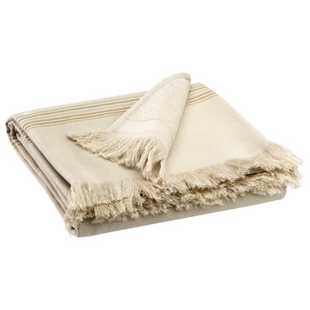 Indretning Håndklæde og badehandske Vivaraise CANCUN Farve / Hør