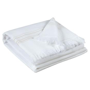 Indretning Håndklæde og badehandske Vivaraise CANCUN Hvid