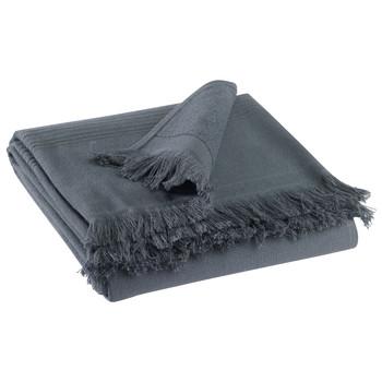 Indretning Håndklæde og badehandske Vivaraise CANCUN Grå / Skygget