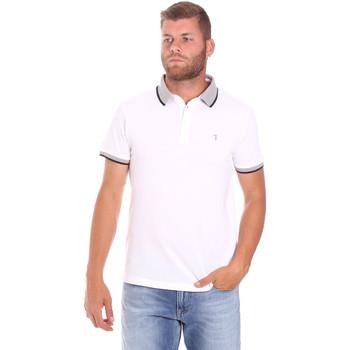 textil Herre Polo-t-shirts m. korte ærmer Trussardi 52T00491-1T003600 hvid