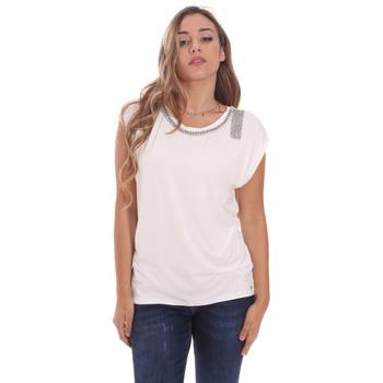 textil Dame T-shirts m. korte ærmer Gaudi 111FD64023 hvid