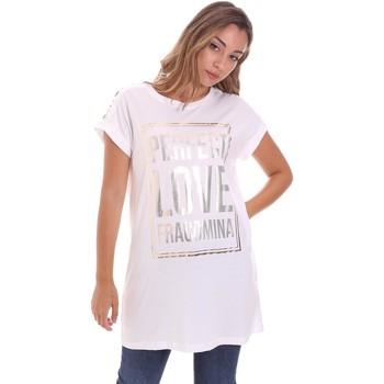 textil Dame T-shirts m. korte ærmer Fracomina FR21ST3012J40615 hvid